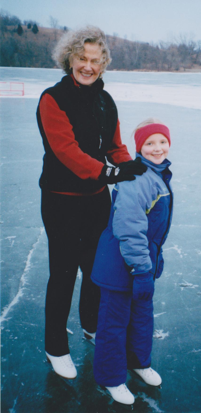 Ruth and Kristin Skating